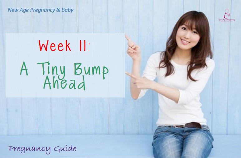 a tiny pregnancy bump