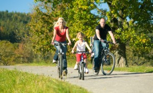family cycling trip