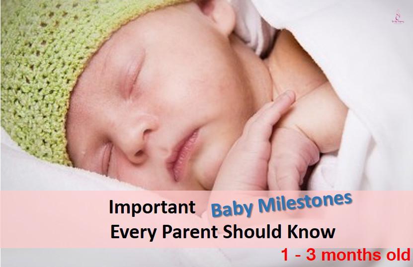 Baby Milestone 1 - 3 months