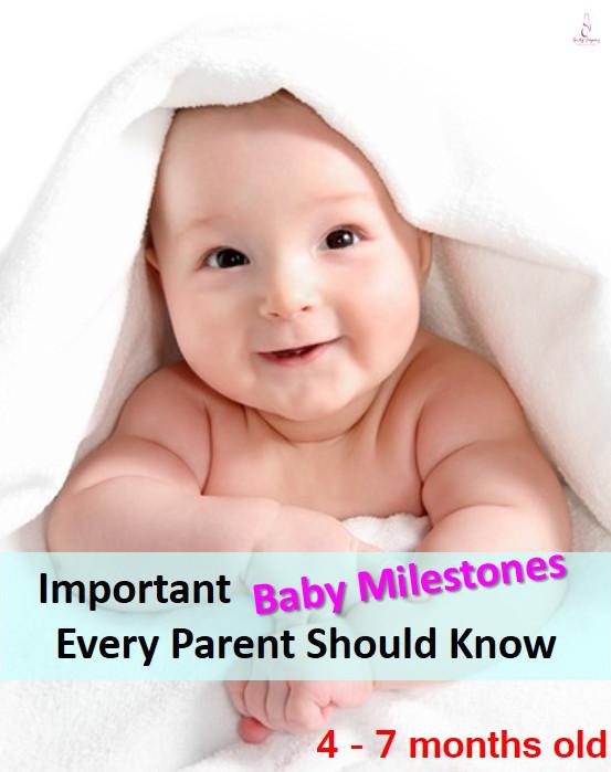Baby Milestone 4 - 7 months