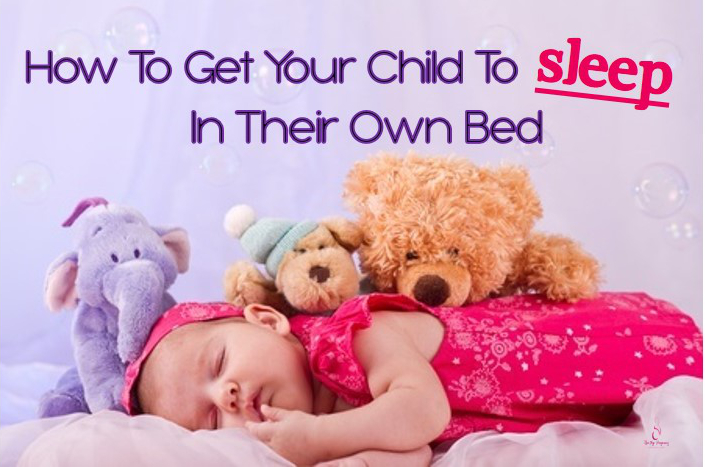 child sleeping independently