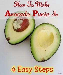 making avocado puree