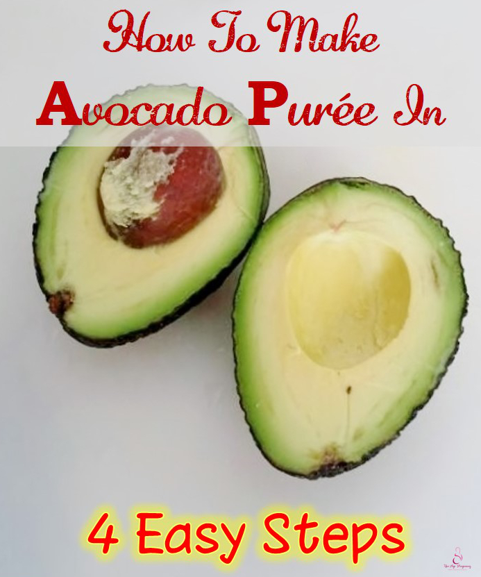 making avocado puree