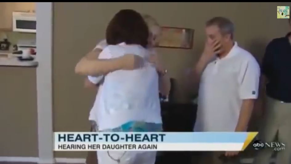 mum hear daughter's heart beat again