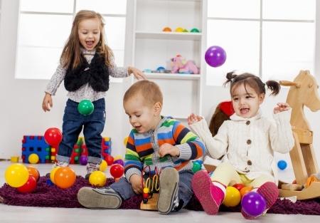 children having fun and mess