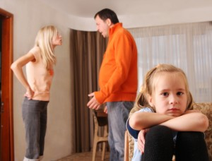 parents arguing in front of child