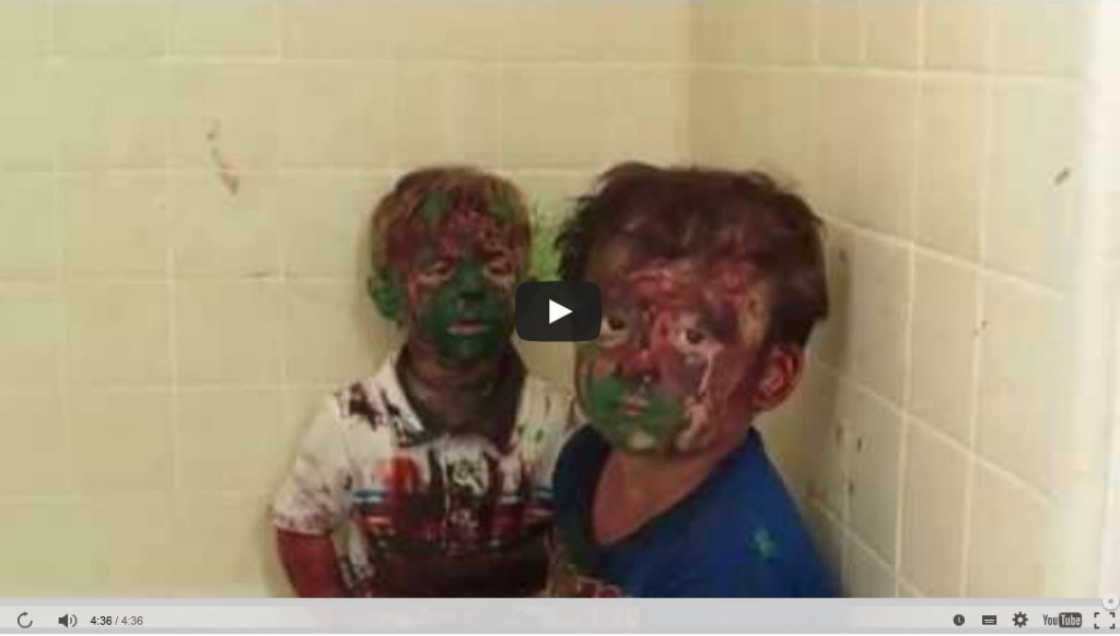 video of kids playing with paint