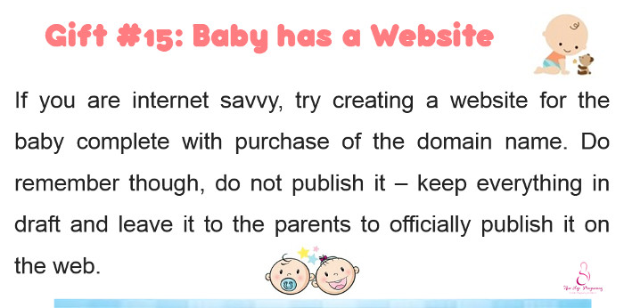 create website for baby