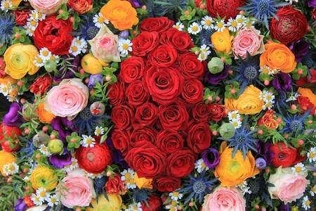 choosing a bouquet of flowers