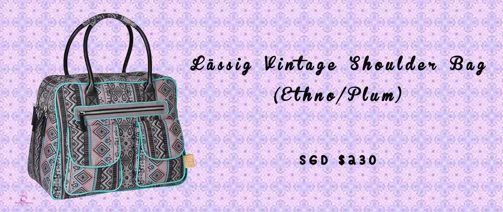 Lässig Vintage Shoulder Bag (Ethno/Plum)