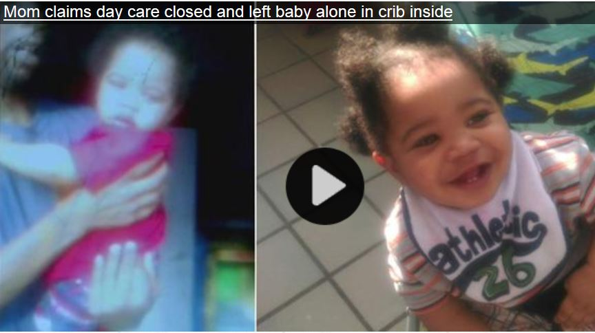 baby left unattended after daycare centre closed off for the day