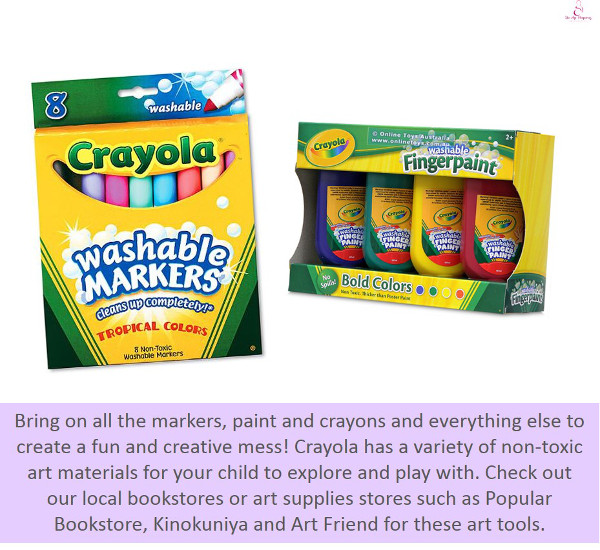 buying art materials for your child